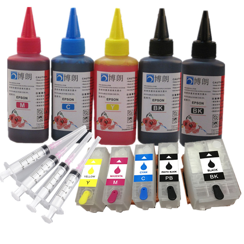 Refill Ink Kit For Epson 202xl 202 Refillable  Ink Cartridge Arc Chip For Epson Expression Photo XP-6000/XP-6005/XP-6100/XP-6105