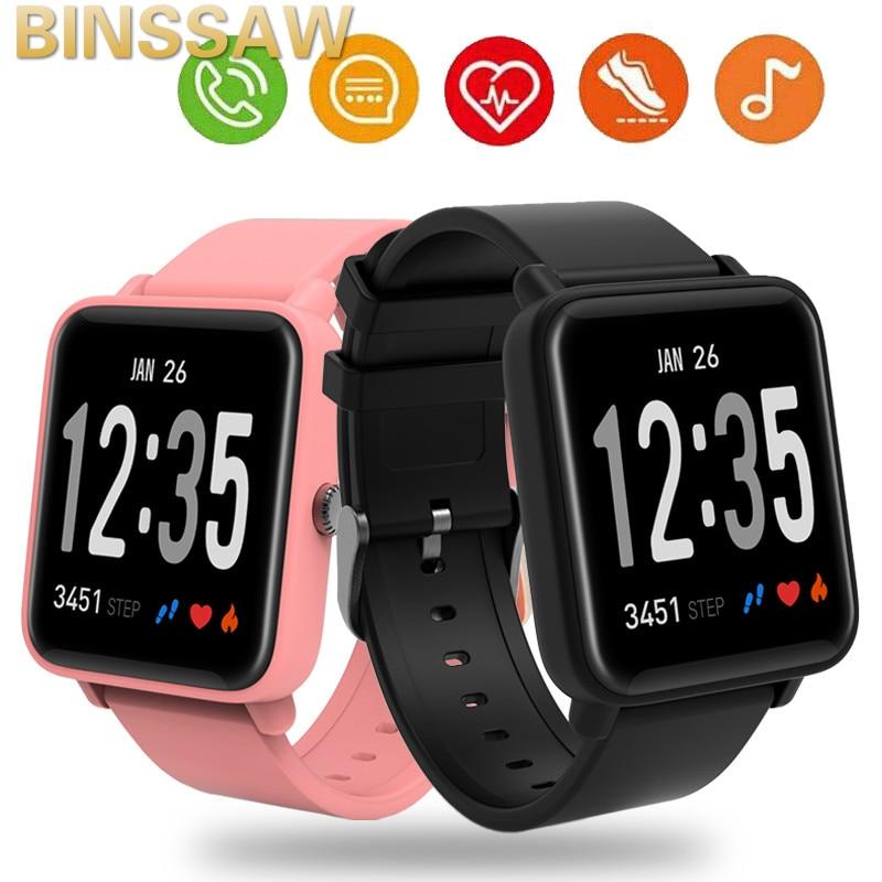 BINSSAW Bluetooth SmartWatch 2.5D LED Curved Glass Pedometer Fitness Tracker Blood Pressure Monitor Waterproof Smart Watch Men