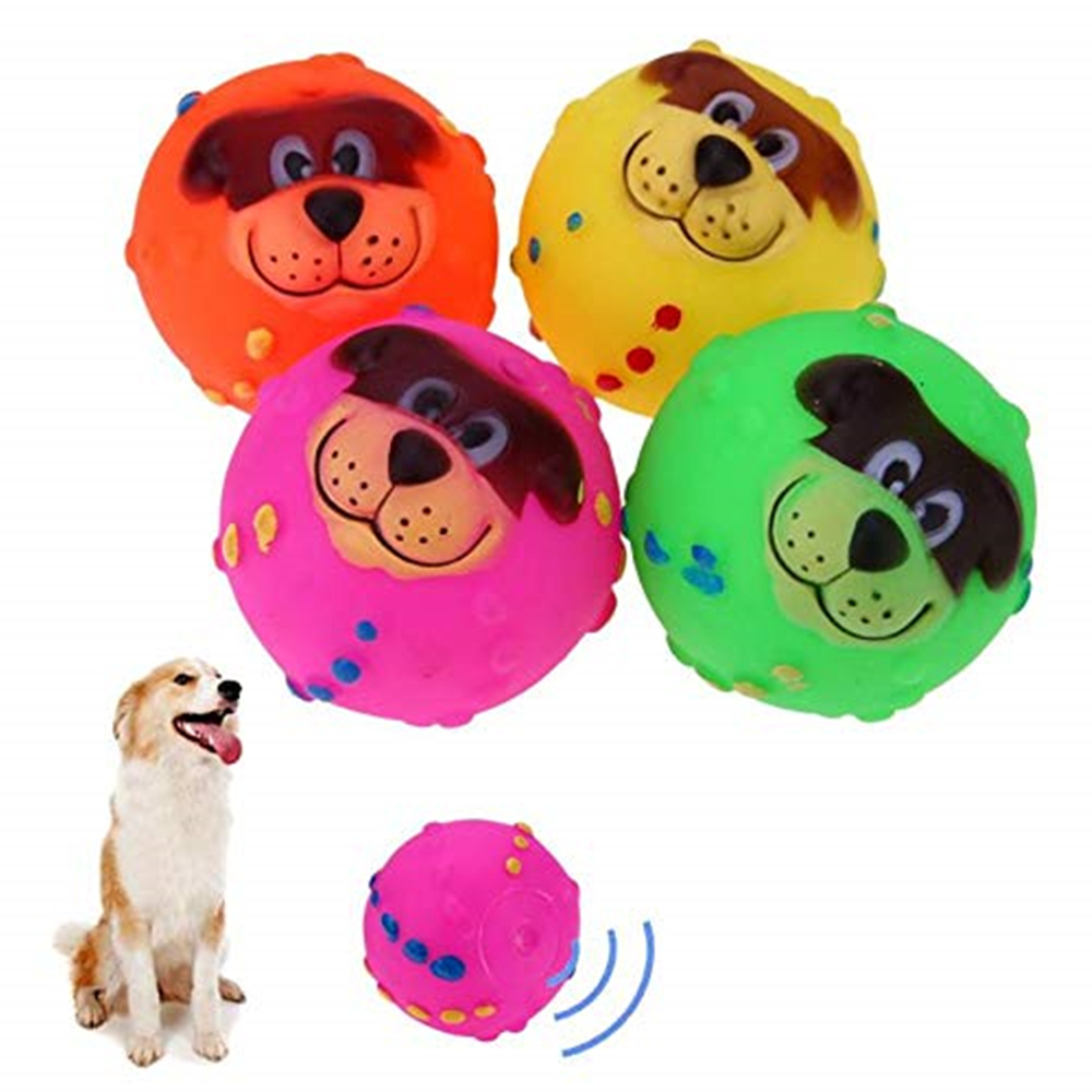 Pet dog toys Rubber Squeak Screaming Chew Toy pet style Supplies Pet Puppy Cat Vinyl Ball pet toy supplies