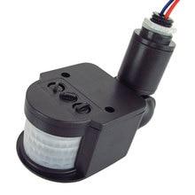 цена на Motion Sensor Light Switch Universal Professional APF Outdoor 12V Automatic Infrared PIR Motion Sensor Switch With LED Light