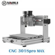 CNC 3018pro MAX GRBL контроль 300 Вт станок с ЧПУ, 3 оси pcb фрезерный станок, DIY древесины маршрутизатор Поддержка лазерной гравировки