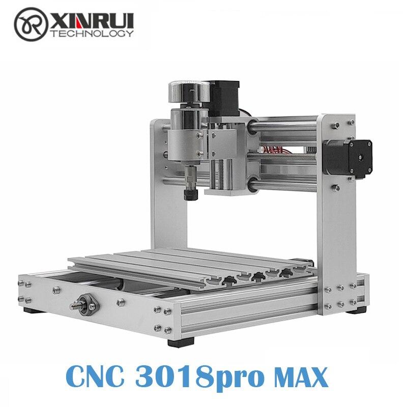 Cnc 3018pro max grbl controle 300w cnc máquina, 3 eixos pcb fresadora, diy suporte roteador de madeira gravação a laser