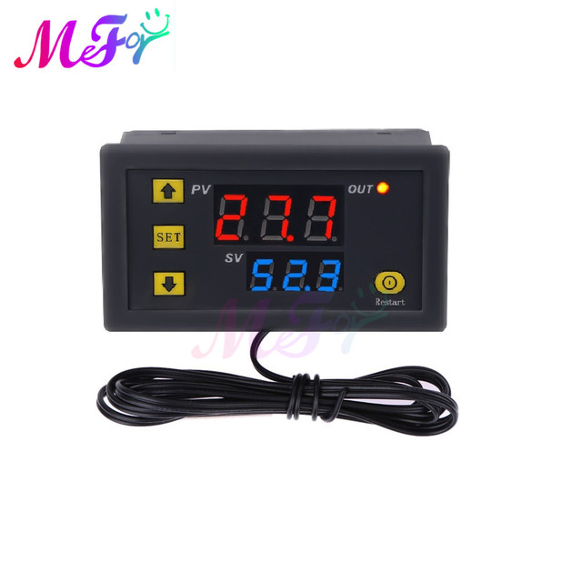 W3230 AC110-220V Digital Temperature Controller Waterproof Tools Thermostat LED Display Heating Cooling High Accuracy Instrument