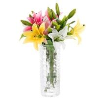 36cm Künstliche seide blumen lilie gefälschte zweig mutter der tag kreative bouquet geburtstag geschenk für frau lehrer wohnzimmer decor