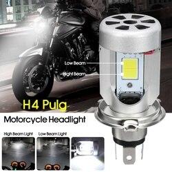 Reflektor led motocyklowy żarówka H4 6000K Hi/lo wiązka lampa czołowa żarówka biała 12 80V 20W na