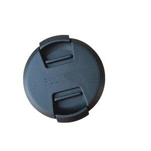 Image 2 - 30 100pcs 52mm 58mm center pinch Snap on cap cover logo for Fujifilm X A1X A2xa3XA5XA20XT10 16 50 58mm15 45 52mm camera Lens
