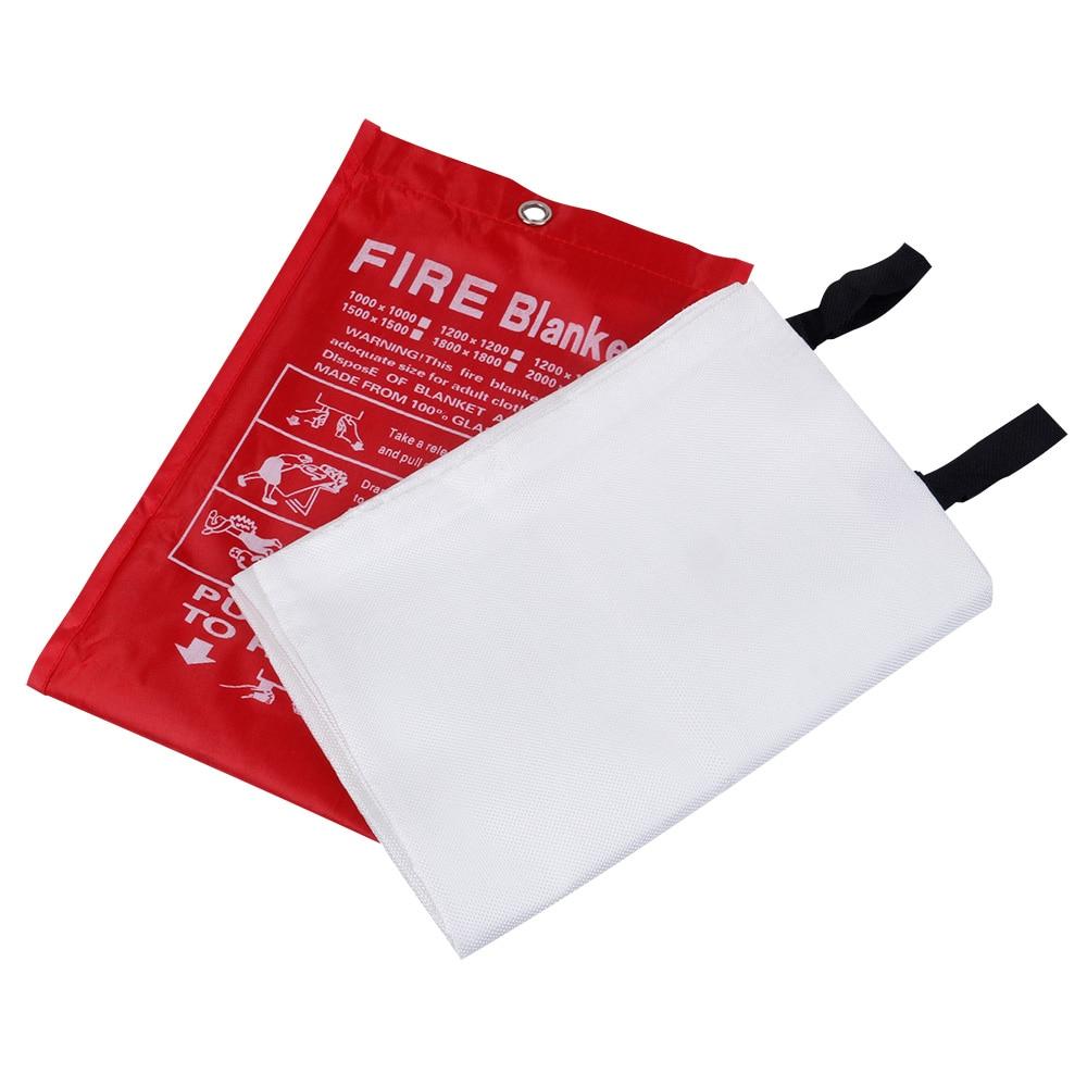 Fire Blanket Carpet Flame Retardant Glass Fiber Fire Blanket 1m*1m Safety Shield Emergency Survival Blanket