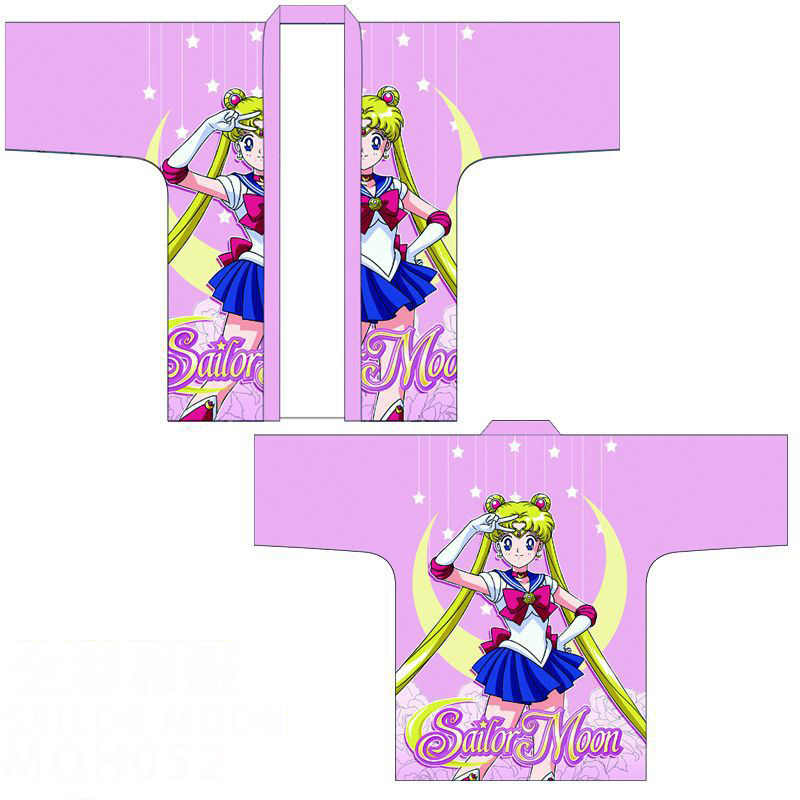 Anime Sailor Moon Mizuno Ami Hino Rei 3D impreso capa Haori Cosplay traje japonés de las mujeres de los hombres casuales Kimono Yukata