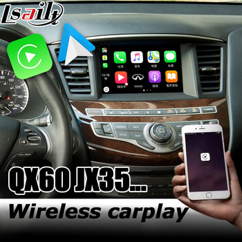 Carplay interface box for Infiniti QX60 / JX35 2012-2020 with G Q70 QX50 QX70 QX80 Android auto youtube play image