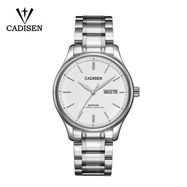 CADISEN 2019 męska mechaniczne zegarki luksusowe marki automatyczne mechaniczne zegarki wojskowy biznes wodoodporny kalendarz Manly