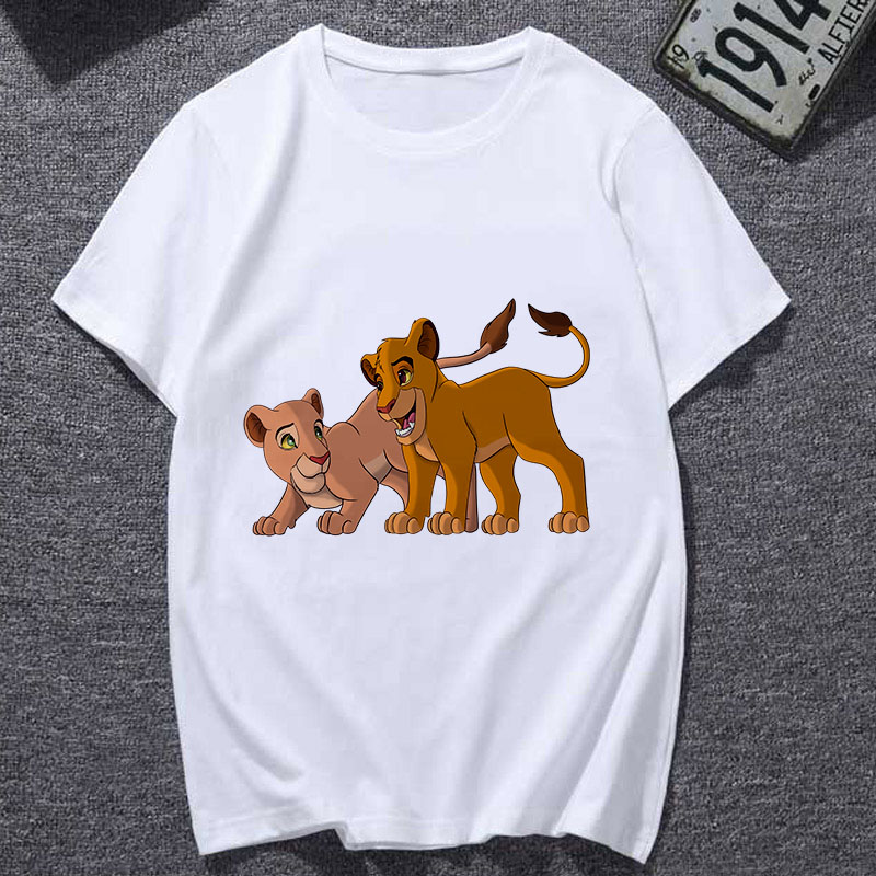 2019 New Summer Fashion T-shirt Casual Harajuku Graphic Tshirt Female Cute Tee Tops Clothing Lion King Cartoon T Shirt Women