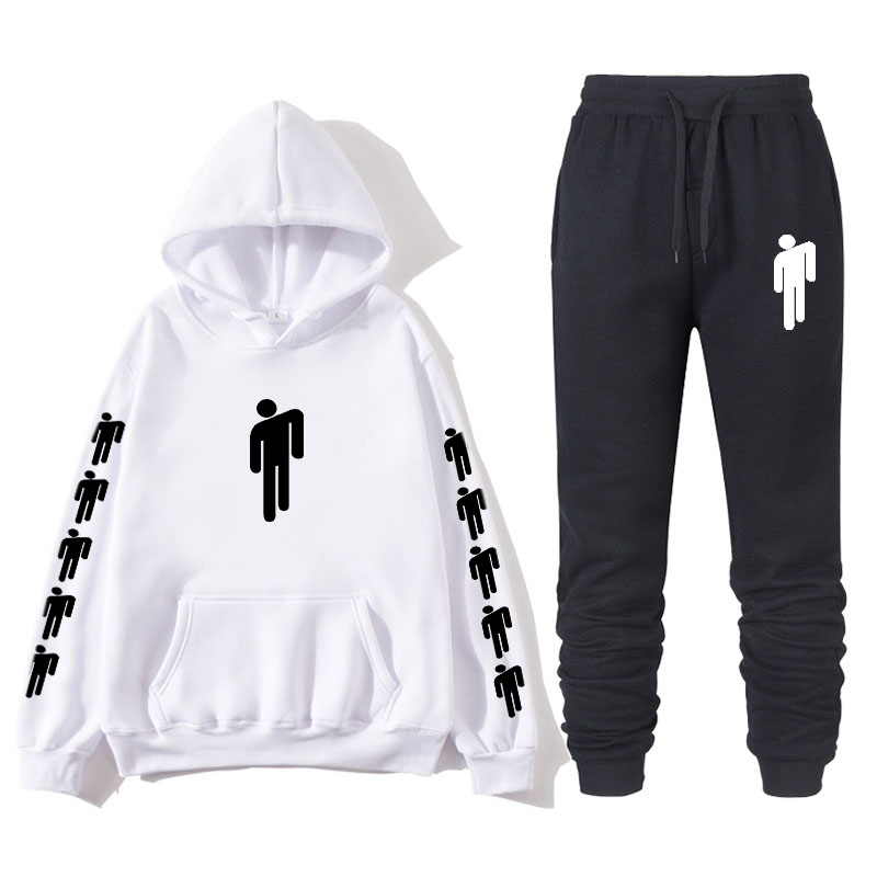 2019Brand Billie Eilish Clothing Men Casual Sweatshirts Pullover Men Tracksuit Hoodie Two Piece Pants Sport Shirts Autumn Winter