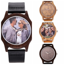 Photo Engraved watch Personalized Wooden Watch as Gift Famil