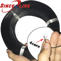Ultra fine electronic connection line 2 4 core Ultra soft enameled Line Out diameter 1.4mm Insulated wire sheath Diy wire 500M