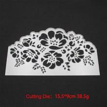 Роза цветок кружева металлические режущие штампы трафареты для