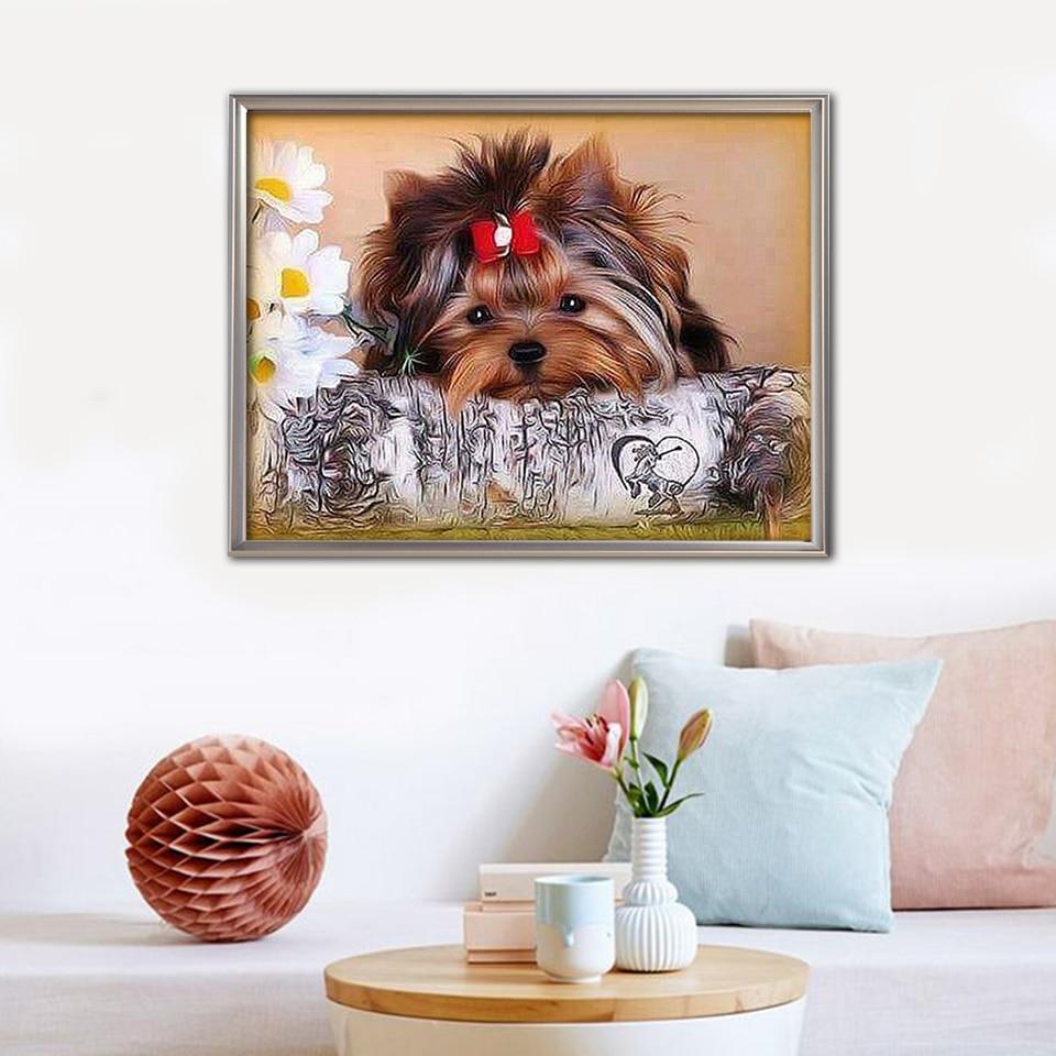 EverShine-Diamond-Embroidery-Dog-Diamond-Mosaic-Picture-Rhinestones-Diamond-Painting-Full-Set-Sale-Yorkshire-Terrier-Beaded