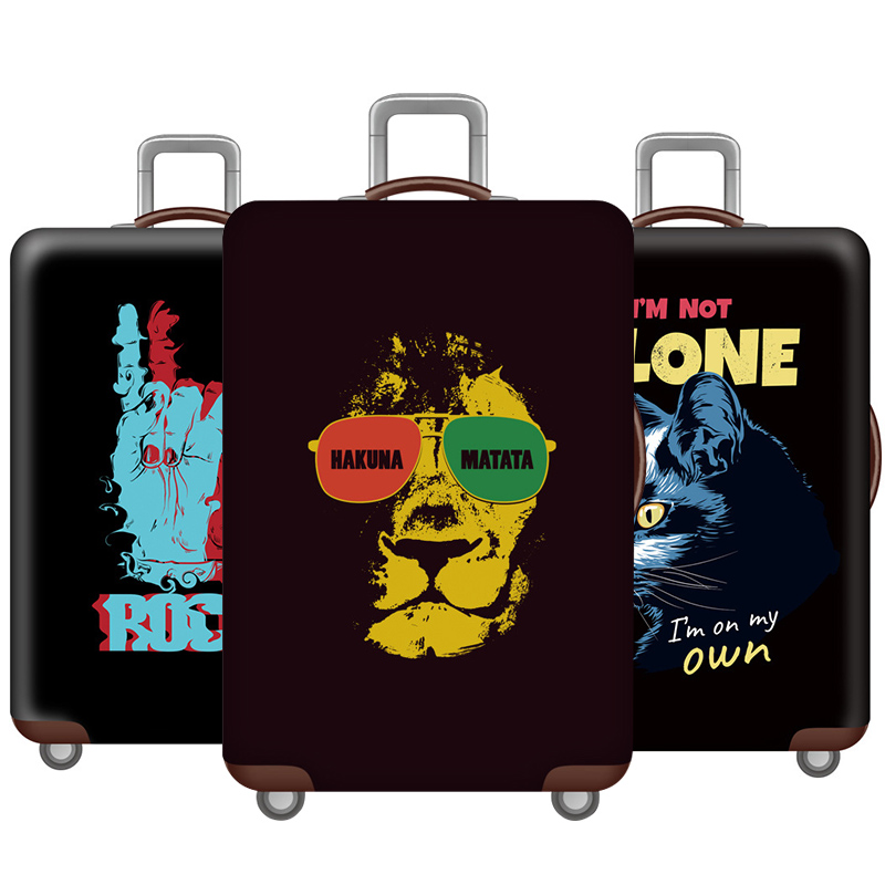 Rock Style Luggage Cover Elasticity Thicken Travel Luggage Protective Covers Suitcase Cover 18-32 Inch Travel Accessories