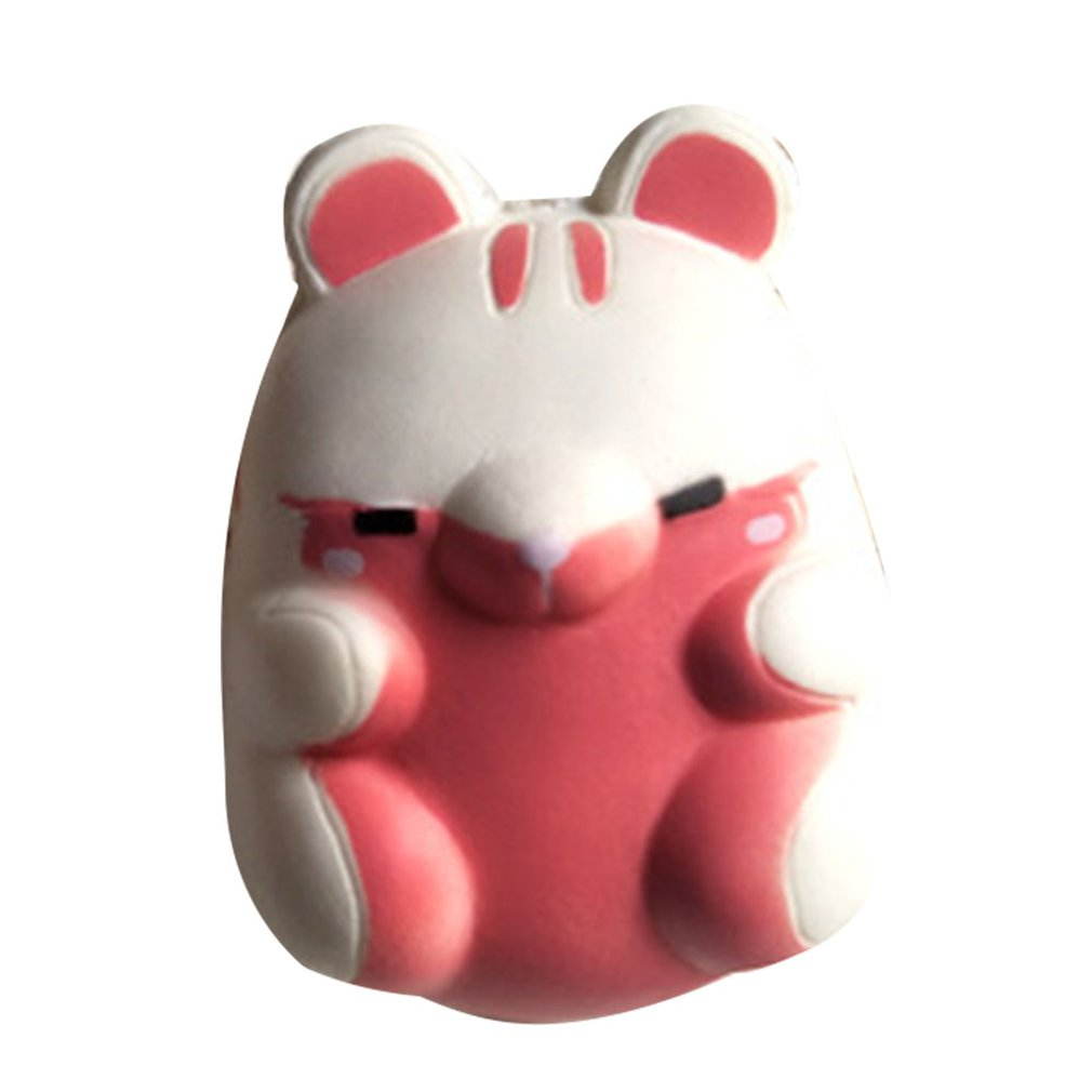 Mini Cartoon Hamster PU Doll Slow Rebound Decompression Toy Foam Relaxed Toy Decoration Soft Toy Cake Sample Model
