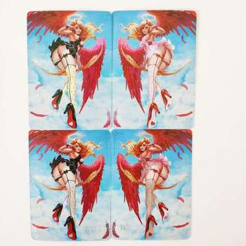 2pcs/set ACG Beauty Black and White Angel Against Card Sexy Beauty Toys Hobbies Hobby Collectibles Game Anime Collection Card