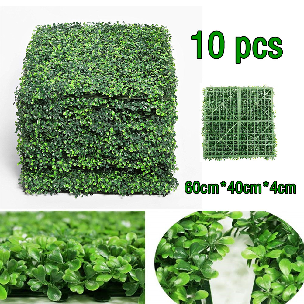 Artificial Boxwood Mats Leaf Screening Hedge Wall Cover Fake Leaves Plants Wall Fake Panel Backdrop Decoration Home