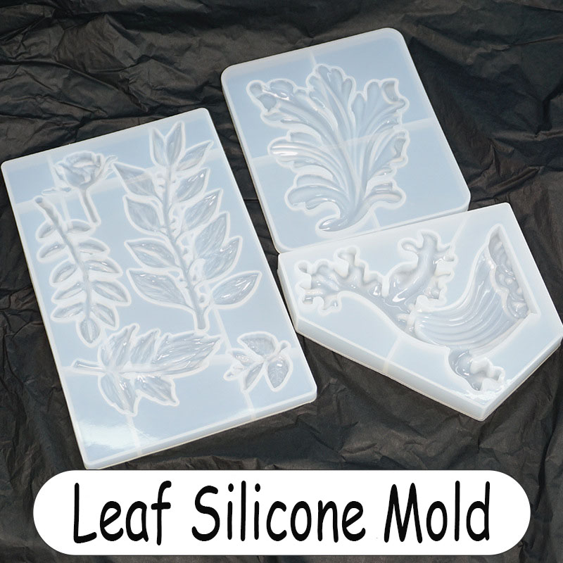 Large Leaf Silicone Mold Resin Mold For Coaster Epoxy Resin Art Supplies Uv Resin Molds Silicone Mold For Resin New Arrival