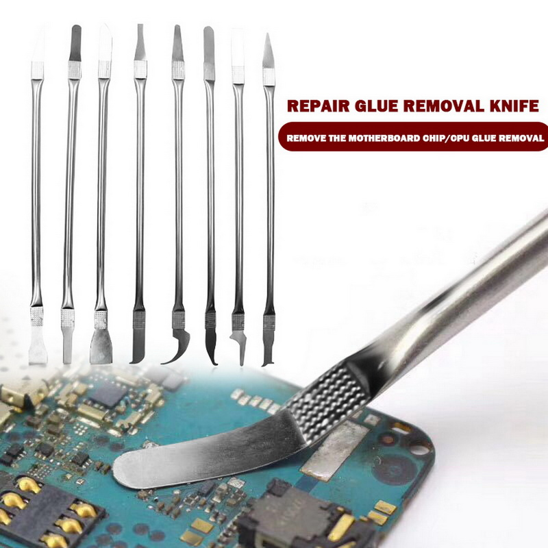 8in 1 IC Chip Repair Thin Tools Set CPU Metal Remover Burin To Remove For Mobile Phone Computer CPU NAND IC Chip Repair