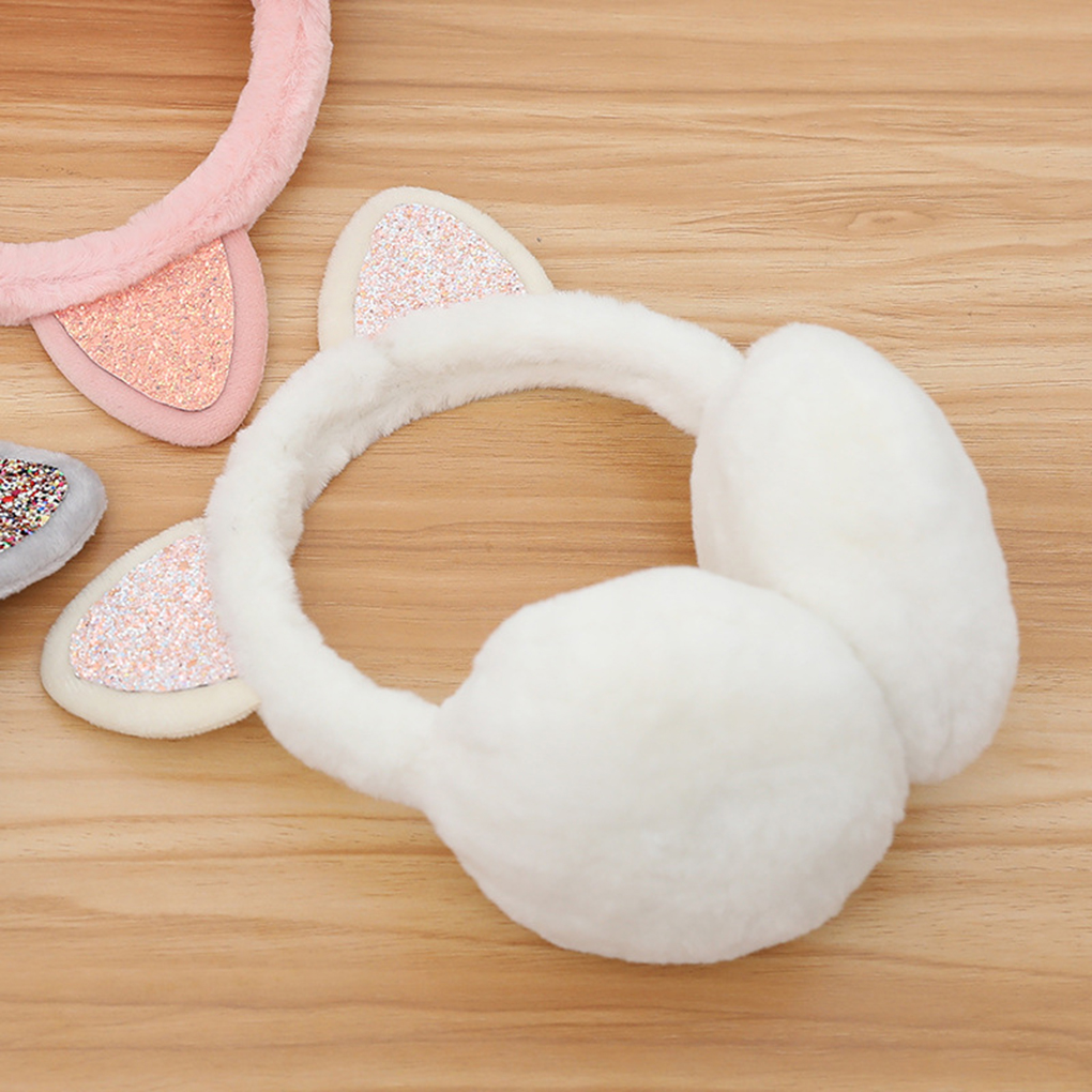 Women Girls Warm Earmuffs Cute Plush Elastic Outdoor Winter Ear Covers Cozy Ear Warmers Fashion New