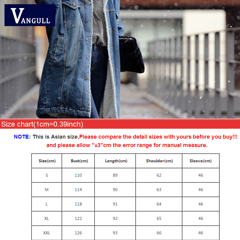 Image 5 - Vangull Fur Warm Winter Denim Jacket Women 2019 New Fashion Autumn Wool Lining Jeans Coat Women Bomber Jackets Casaco Feminino-in Jackets from Women's Clothing