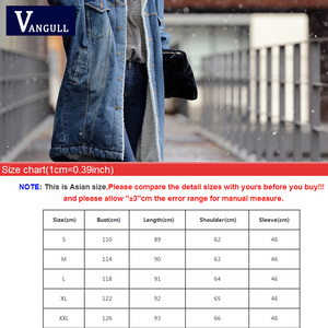 Image 5 - Vangull futro ciepła zimowa kurtka dżinsowa kobiet 2019 nowych moda jesień wełniana podszewka dżinsy płaszcz kobiety kurtki pilotki Casaco Feminino