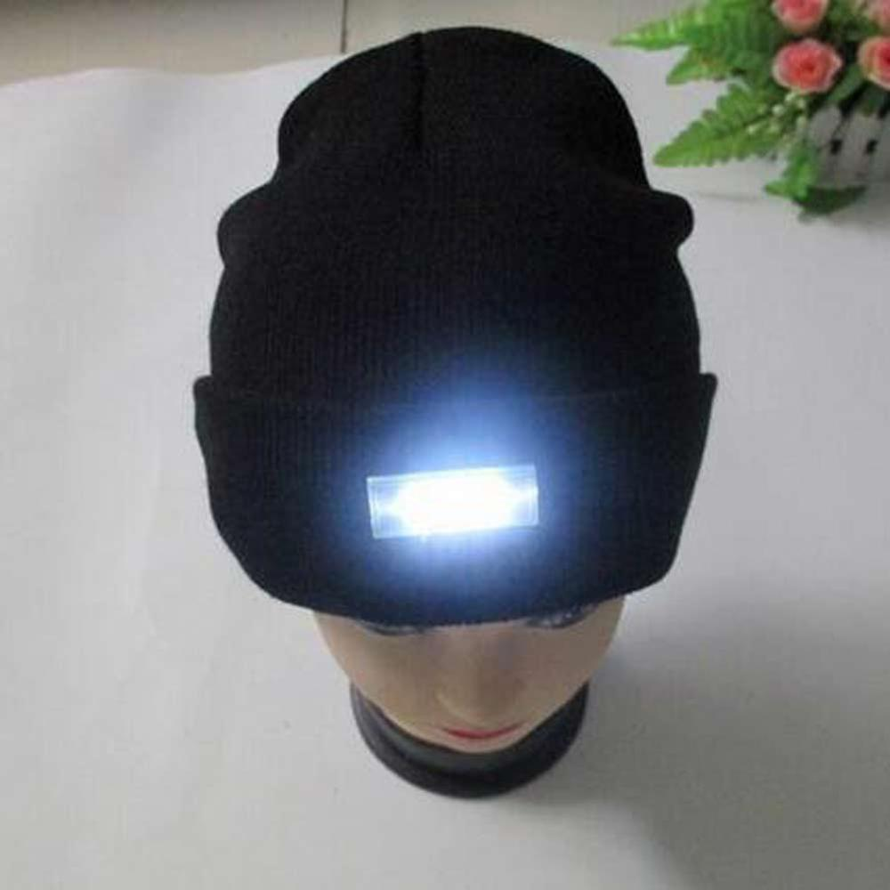 5 LED Headlamp Glowing Knit Warm Hat With A Flashlight Cap For Camping Night Climbing Fishing Ski Novelty Lighting Warm Led Hat