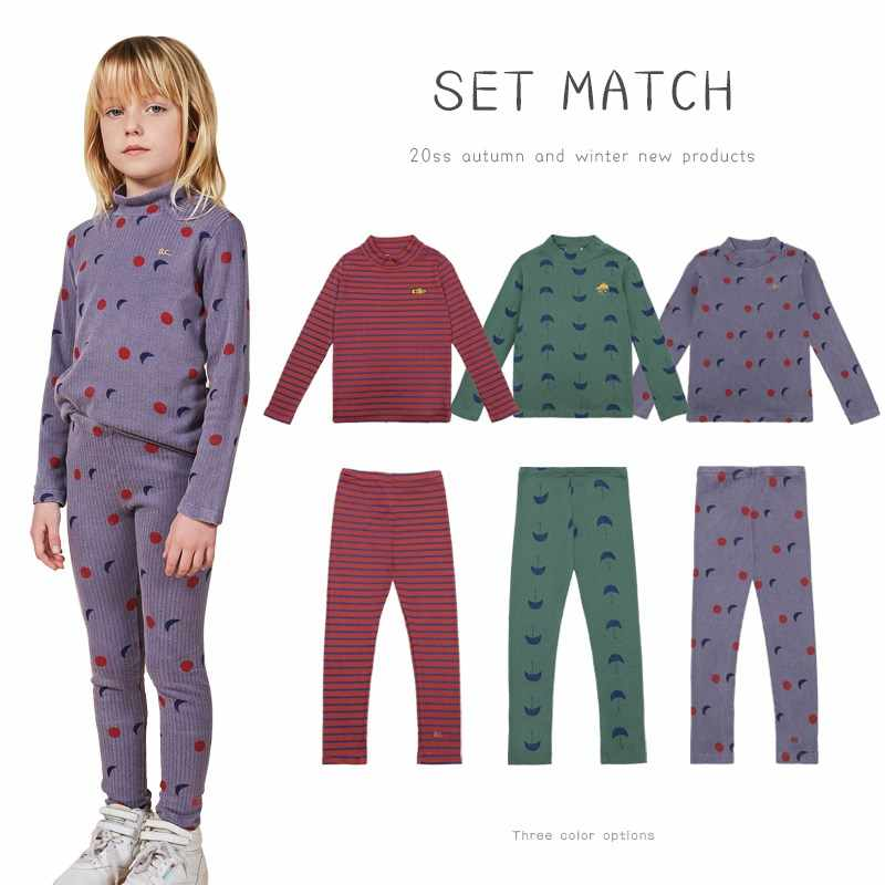 Pre-sale 2020 autumn and winter children's printed pajamas suit boys and girls home service suits