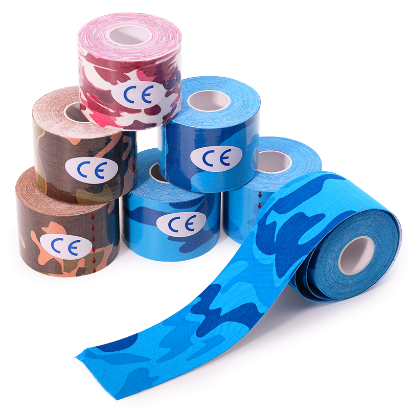 Waterproof Camouflage Muscle Paste Elastic Kinesiology Taping  Profession Sports Fitness Cloth Sports Tape Protective Clothin