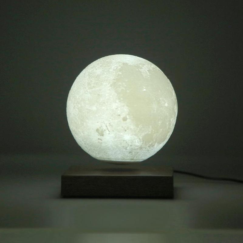Креативный светодиодный 3D принт огни магнитная левитация сенсорный Луна ночник день рождения, День Святого Валентина подарок украшения сп... - 6