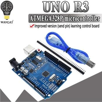 modified version One set UNO R3 CH340G+MEGA328P Chip 16Mhz For Arduino UNO R3 Development board + USB CABLE uno r3 development board atmega328p ch340g for arduino uno r3 with usb cable pin header acrylic case