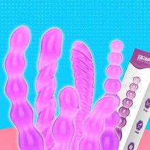Jelly Anal Beads Butt Plug Prostate Massage for Beginner G spot Anal Plug Dildo Dilator Anal