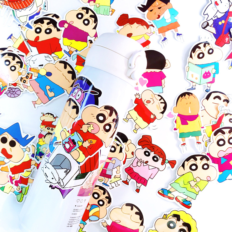 50pcs Cartoon Stickers Crayon Shinchan Sticker For Luggage Skateboard Phone Laptop Moto Bicycle Guitar Stickers/DIY Scrapbooking