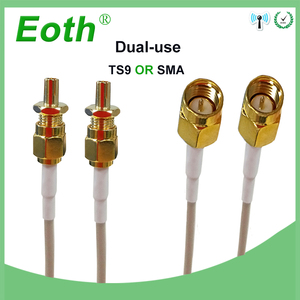 Image 3 - 3G 4G Antenna 35dBi 2m Cable LTE Antena 2 SMA connector for 4G Modem Router Adapter Female to TS9 Male connector Signal zoom