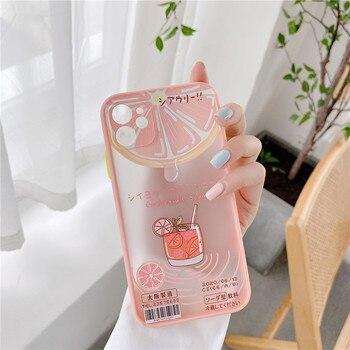 Funda de teléfono japonesa kawaii pomelo matte girls para iPhone 11 Pro Max, funda suave bonita para iPhone XS XR X 7 8 Plus SE