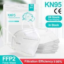 Mascarilla reutilizable kn95 ffp2reutilizable para adultos, máscara protectora con certificado ce, 1-100 Uds.