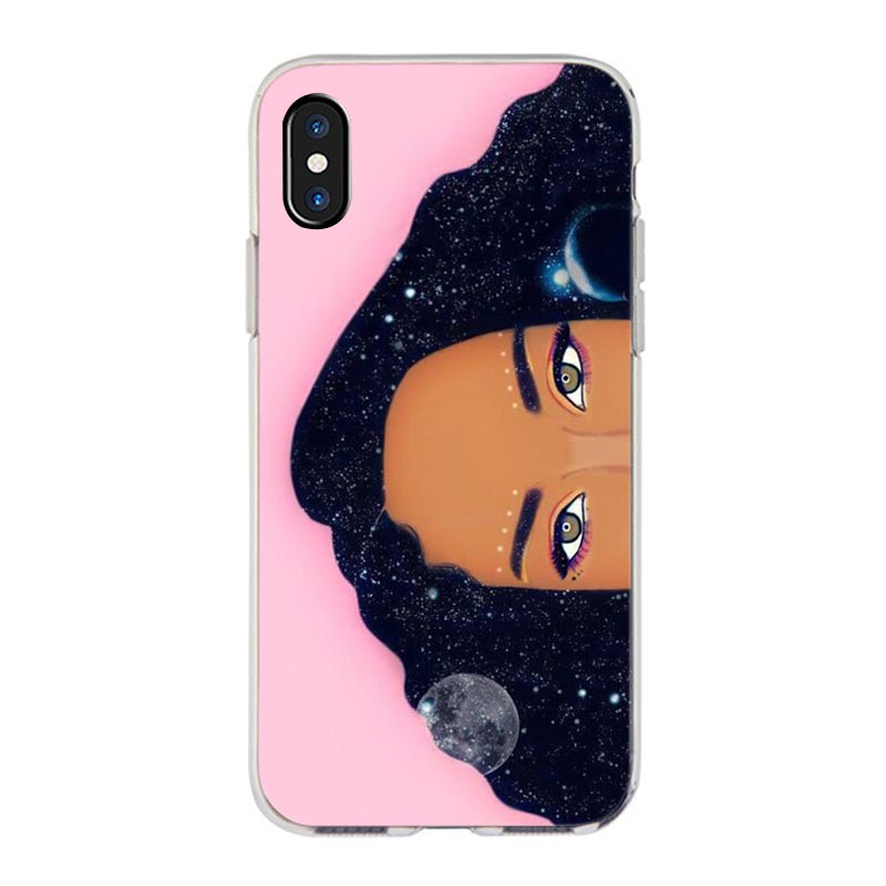 MaiYaCa  New Personalized MELANIN POPPIN Black Girl Phone Case for iPhone 11 Pro XS Max XR 8 7 6 6S Plus X 5S SE 4