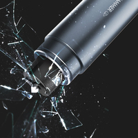 Auto Sicherheit Hammer Schlüsselbund Edelstahl Gebrochen Fenster Glas Tragbare Auto Notfall Rescue Tool Messer für lifebelt Schlüsselring