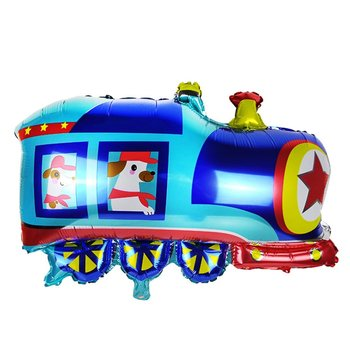 1pc Cute Car Foil Balloon Tank Train School Bus Ambulance Helium Balloon Baby Boy Girl Birthday Party Decor Kdis Toy image