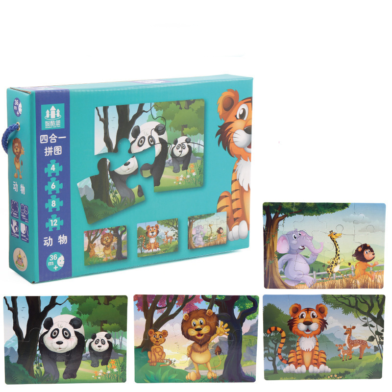 Large Matching Puzzle Games For Kids Early Learning Card My First Jigsaw Puzzle Toys For Children Kids Educational Toys