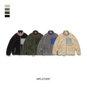 Image 5 - INFLATION Men Berber Fleece Winter Jacket Coat 2020 High Street Loose Fit Poler Fleece Men Coat High Collar Men Jacket 9744W