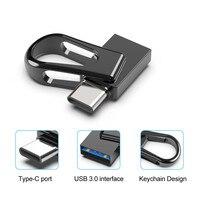 2 in 1 Mini 32GB 64GB 128GB USB3.0 Flash Drive OTG Type C Memory Stick Pen Drive Waterproof