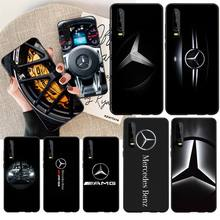 NBDRUICAI Luxury Mercedes Benz AMG Car Phone Case Cover for