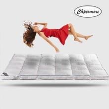 Chpermore 100% ホワイトグースダウン羽毛マットレス10センチメートル5星ホテル肥厚畳綿マットレスカバーキング女王サイズ