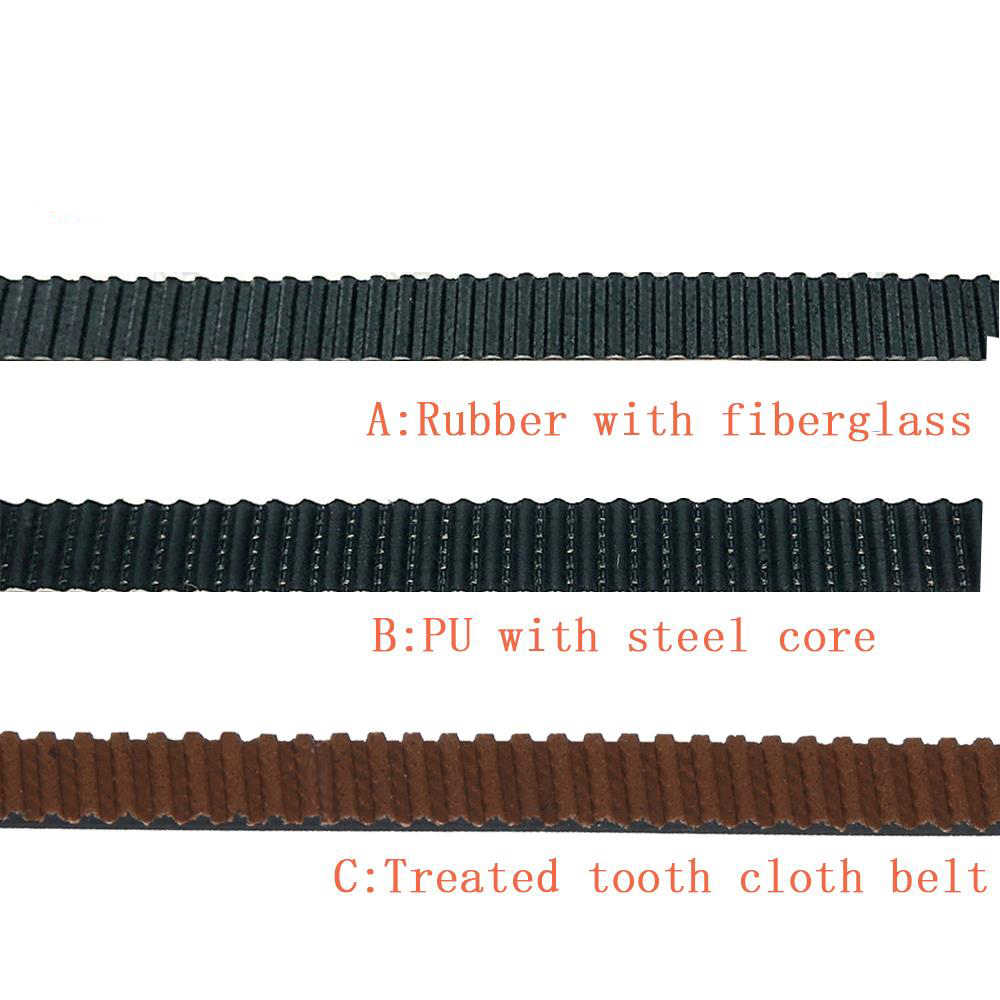 5M 2GT Terbuka Timing Belt 6 Mm PU dengan Inti Baja Rubber Fiberglass Timing Belt GT2 6 Mm Belt warna Hitam untuk 3d Printer