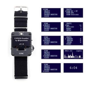 DSTIKE Deauther браслет Wi-Fi атака/контроль/Тест Инструмент ESP-07 1.3O светодиодный аккумулятор 600 мАч RGB светодиодный без PB ESP8266