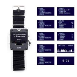 DSTIKE Deauther браслет WiFi атака/контроль/Тест Инструмент ESP-07 1.3O светодиодный аккумулятор 600 мАч RGB светодиодный без PB ESP8266 макетная плата